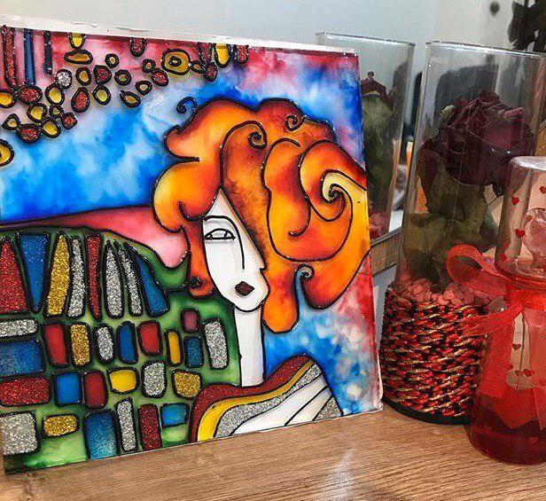 آموزش نقاشی روی شیشه | ویترای
