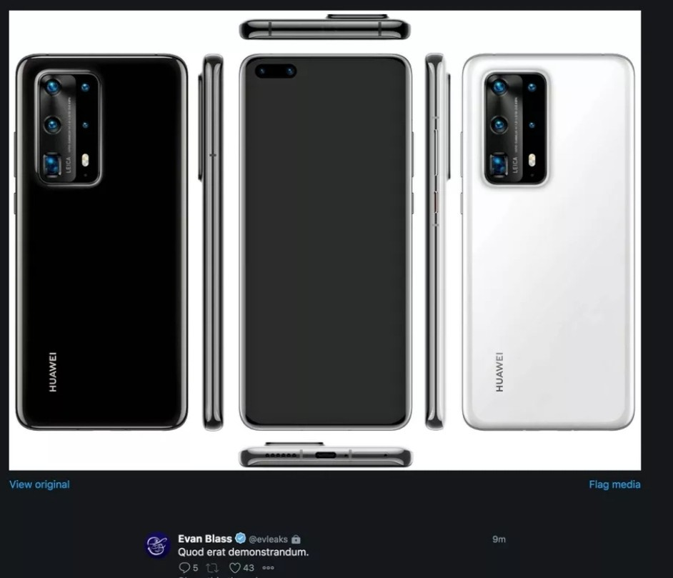 اولین عکس منتشر شده گوشی Huawei P40 Pro