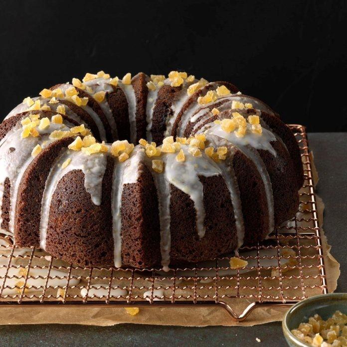 کیک زنجبیلی با گردو