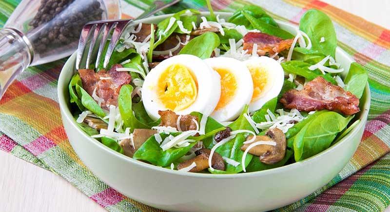 سالاد تخم مرغ منبع پروتئین