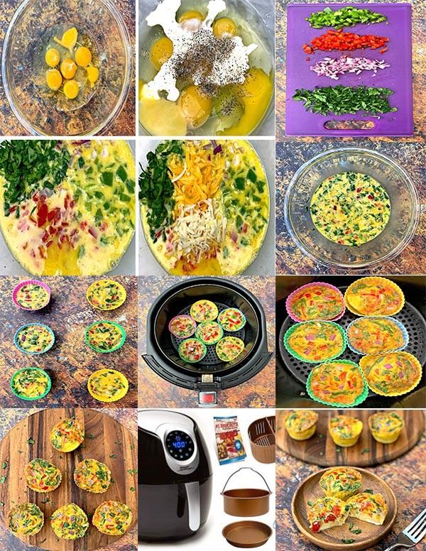 کلوچه مافینی رژیمی باتخم مرغ و سبزیجات