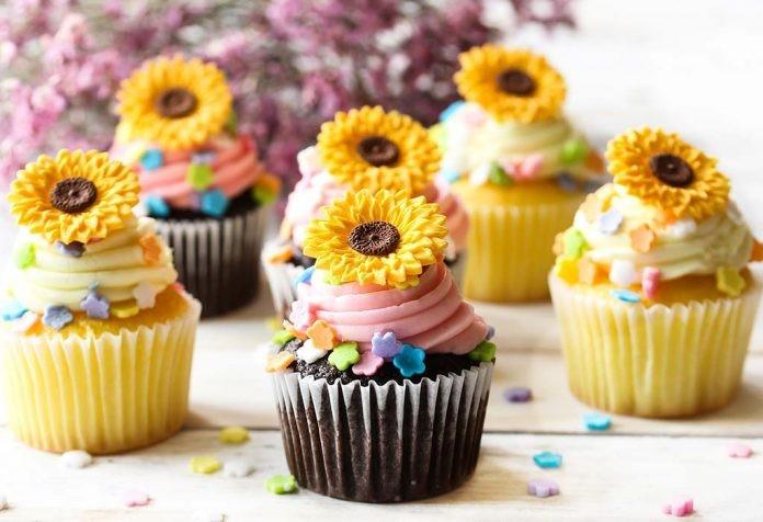 دستور العمل کاپ کیک آفتابگردان