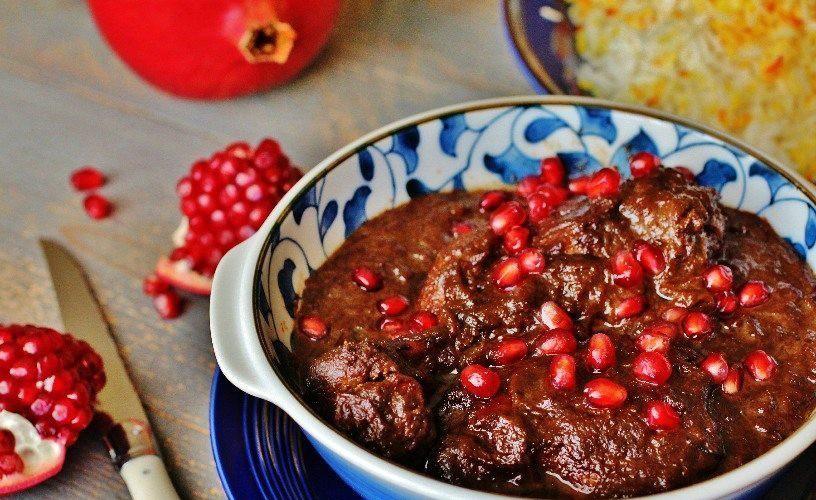 خورش انار - غذای سنتی ایرانی شمالی