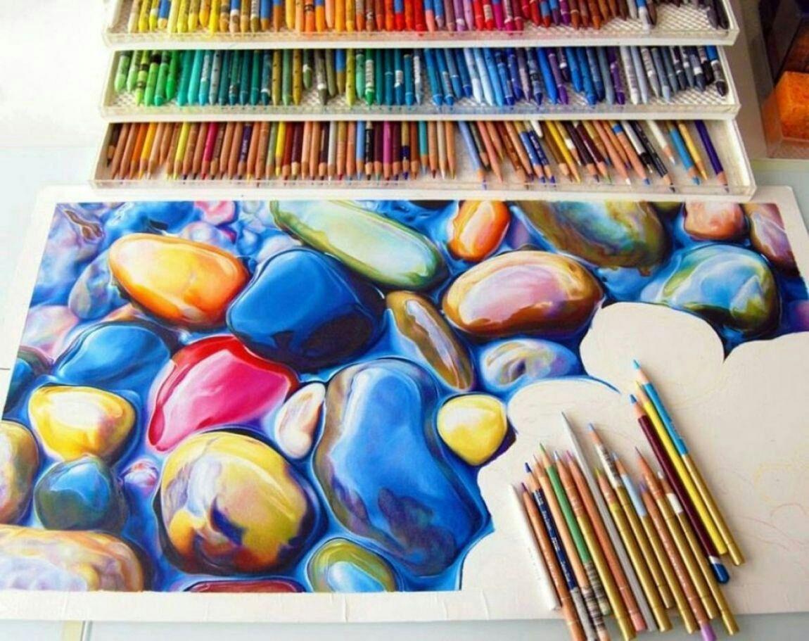 شیوه های استفاده از مداد رنگی