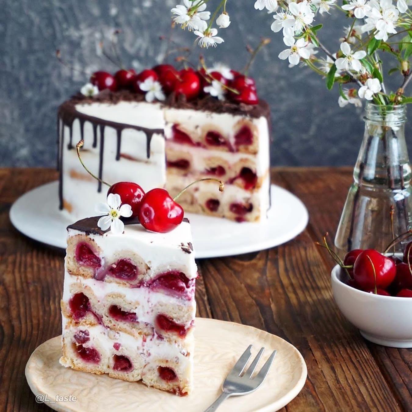 آموزش کیک گیلاس
