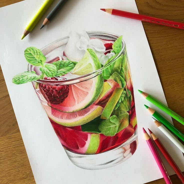 نقاشی با مداد - مداد رنگی