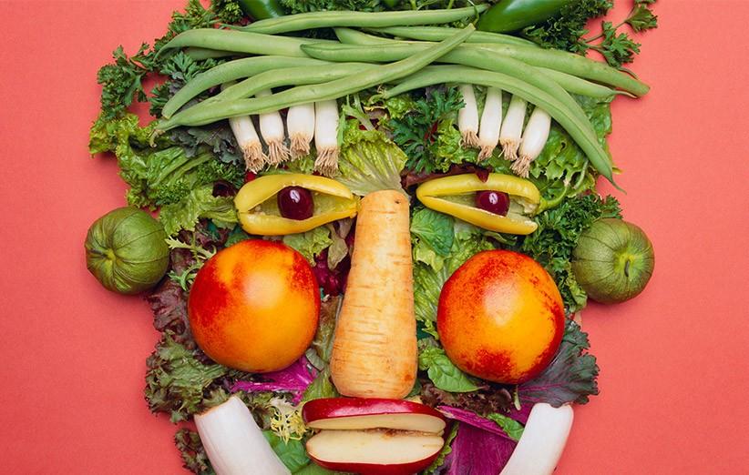 گیاهخواری و اثر آن بر پوست