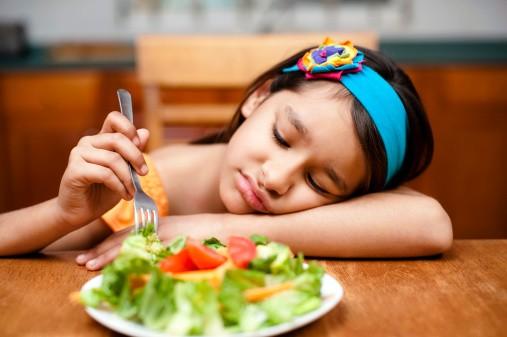 کودکانی که از خوردن سبزیجات امتناع می ورزند