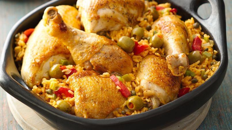 طرز تهیه پورتوریکو غذای اسپانیایی شامل مرغ و برنج