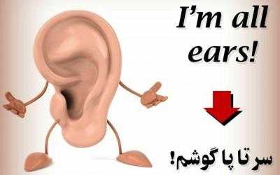 سرتا پا گوشم I'm all ears