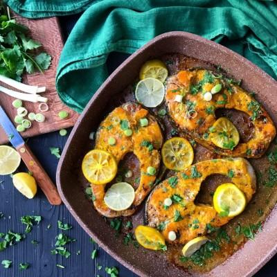 آموزش و طرز تهیه ماهی با سس لیمو
