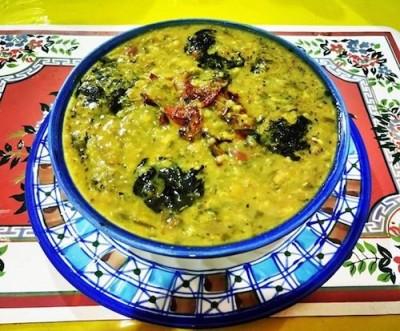 طرز تهیه آش سبزی شیرازی با گوشت
