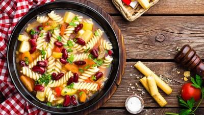سوپ ماکارونی سرشار از فیبر