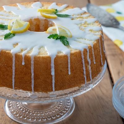 کیک اسفنجی با سس لیموترش