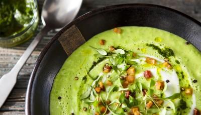 سوپ سیب زمینی شیرین با رازیانه