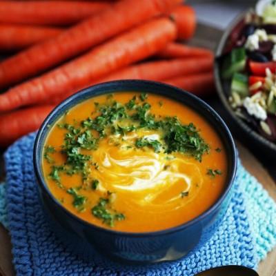 طرز تهیه سوپ زنجبیلی با هویچ