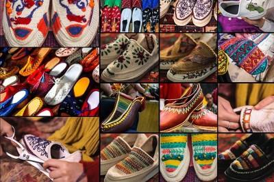 بازار سوغات ایران | کفش سنتی گیوه بافی ایران