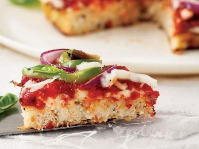 پیتزا با خمیر گل کلم ویژه وگان
