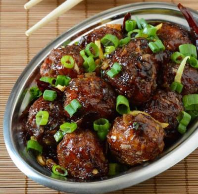 طرز تهیه توپ سبزیجات با سس منچوریان هندی