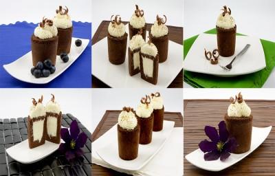 کیک شکلات باموس شکلات سفید
