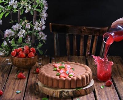 آموزش کیک توتفرنگی