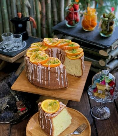 آموزش کیک شیفون پرتقالی