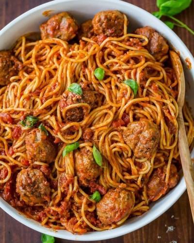 آموزش اسپاگتی با کوفته قلقلی