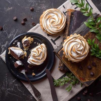 آموزش تارت شکلات و مرنگ