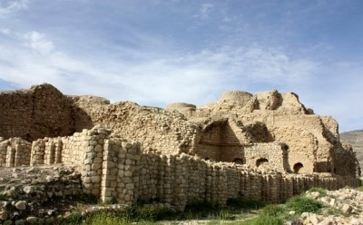 هنر و معماری ساسانی شهر باستانی گور