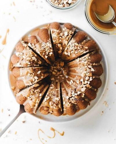 آموزش کیک موزی با کره بادامزمينی