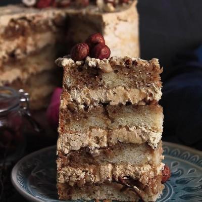 آموزش کیک کافه موکا روسی