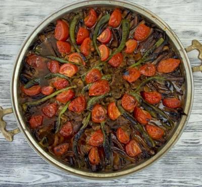 آموزش پخت خوراک کباب ترکیه با بادمجان