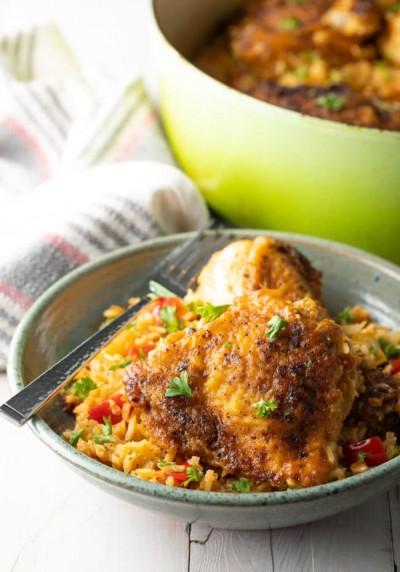 آموزش پخت چلو مرغ با سبزیجات _ کوبایی