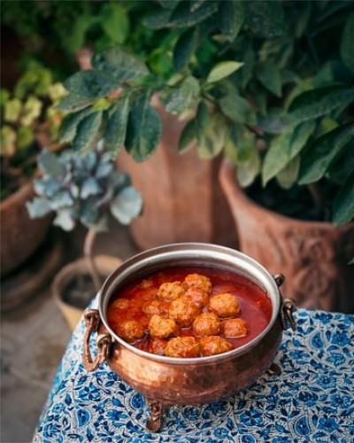 آموزش پخت غذای سنتی کاشان کوفته نخودچی
