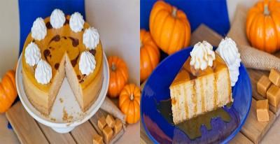 آموزش چیز کیک کدو تنبل با سس کاراملی