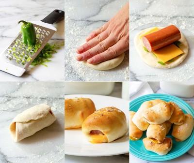 آموزش رول خمیری با سوسیس
