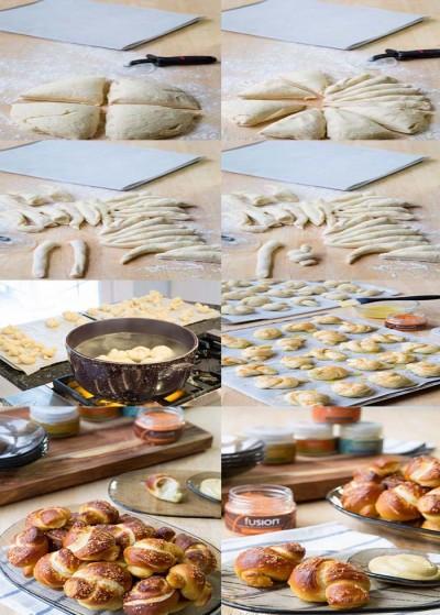 آموزش نان پرتزل عسل سریچا
