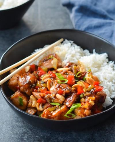 طرز تهیه خوراک جوجه کونگ یائو