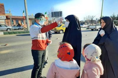 حضور گروهی از دانشجویان جهادگر بسیج دانشجویی استان قزوین برای مقابله با کرونا