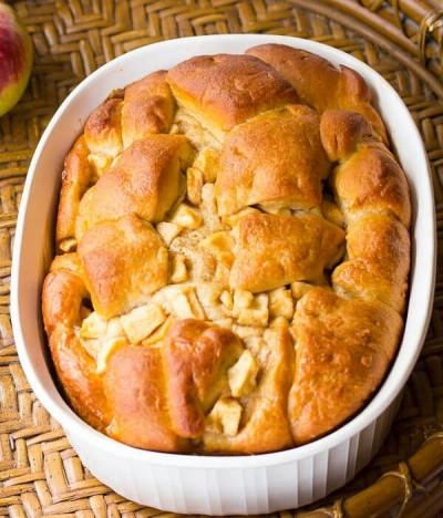 طرز تهیه نان سیب سبک چاله یا چله