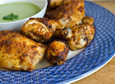 طرز تهیه مرغ سوخاری به سبک پرو با سس سبز
