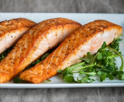 طرز تهیه ماهی قزل آلا یا سالمون ساده