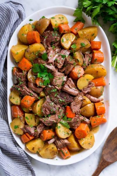 طرز تهیه خوراک گوشت با سبزیجات در آرام پز