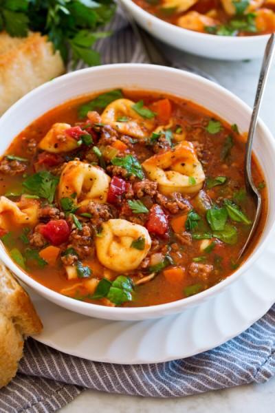 طرز تهیه سوپ تورتلینی