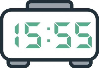 معنی عدد ساعت 15:55