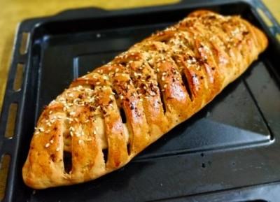 طرز تهیه نان گیس باف با مرغ