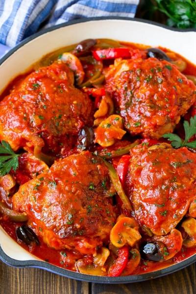 طرز تهیه مرغ کاسیاتوره با سبزیجات