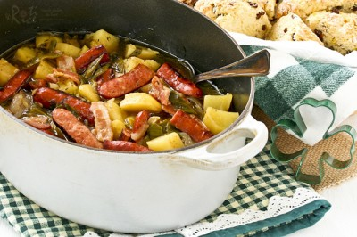 طرز تهیه دوبلین کادل یا خوراک سوسیس ایرلندی