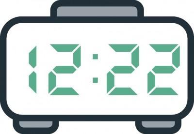 معنی عدد ساعت 12:22
