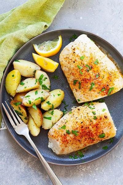 طرز تهیه ماهی بسیار آسان در فر